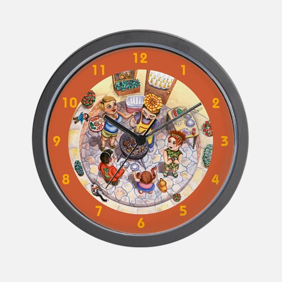 Family Barbeque Wall Clock