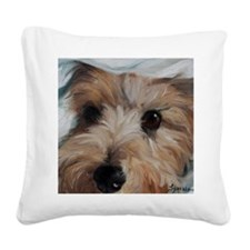 Under Cover Square Canvas Pillow
