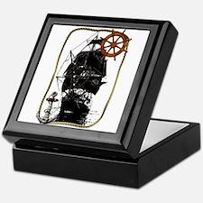 Historical Sailing Ship Keepsake Box