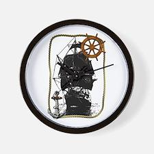 Historical Sailing Ship Wall Clock
