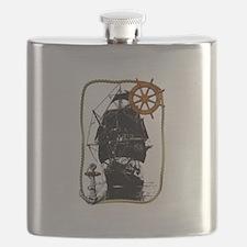 Historical Sailing Ship Flask
