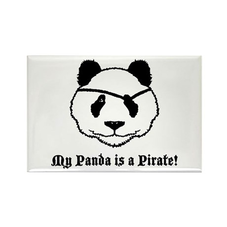 My Panda is a Pirate Rectangle Magnet