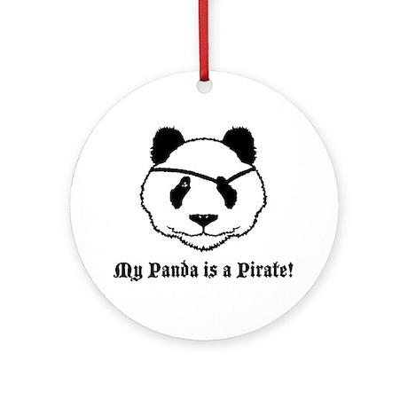 My Panda is a Pirate Ornament (Round)