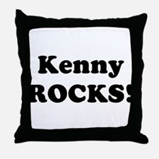 Kenny Rocks! Throw Pillow