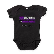 God Only Gives (Epilepsy Awareness) Baby Bodysuit