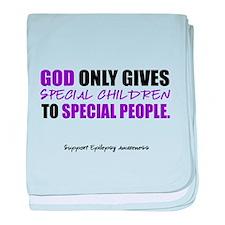 God Only Gives (Epilepsy Awareness) baby blanket