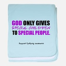 God Only Gives (Epilepsy Awareness) baby blanket