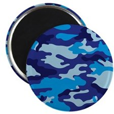 Camouflage (Blue / Cyan) Magnet