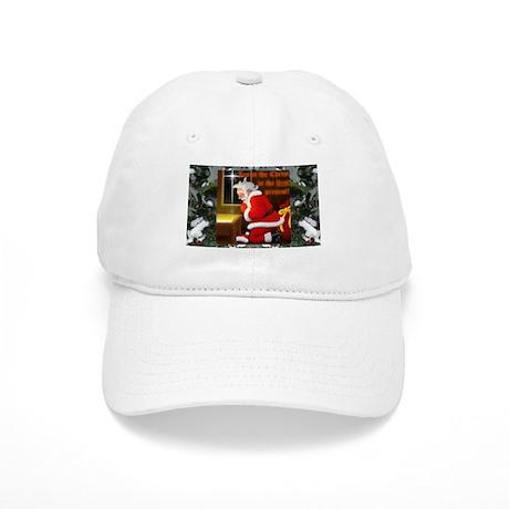 'Santa knelt' white Cap