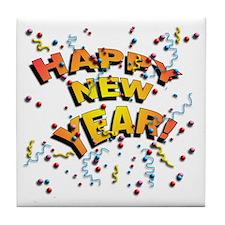 Confetti New Years Eve Tile Coaster