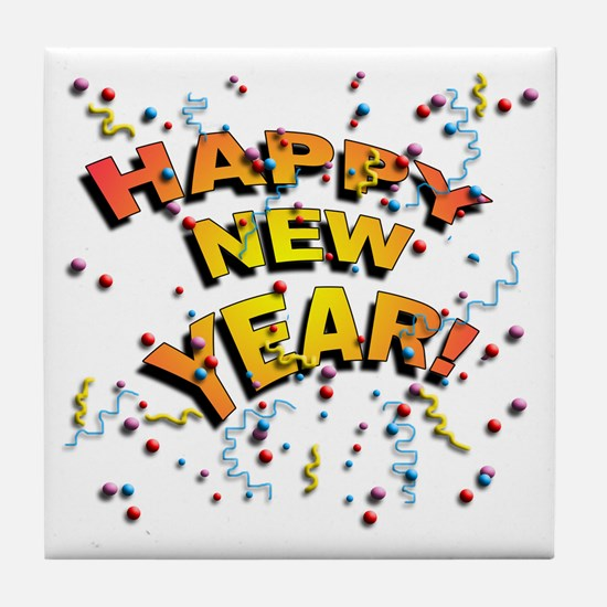 Confetti New Years Eve Tile Coaster