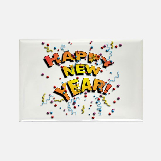 Confetti New Years Eve Rectangle Magnet