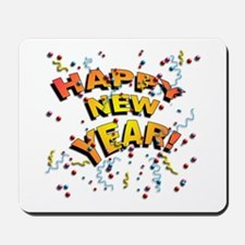 Confetti New Years Eve Mousepad