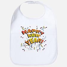 Confetti New Years Eve Bib