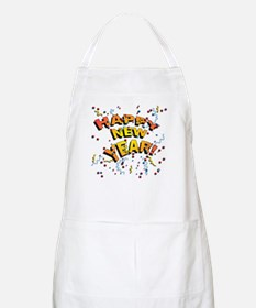 Confetti New Years Eve BBQ Apron