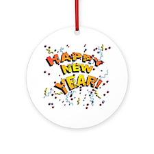 Confetti New Years Eve Ornament (Round)