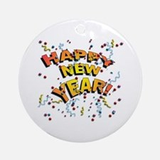 Confetti New Years Eve Ornament (Round)