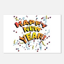 Confetti New Years Eve Postcards (Package of 8)