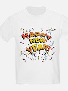 Confetti New Years Eve Kids T-Shirt