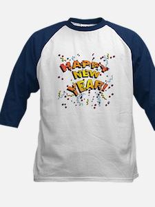 Confetti New Years Eve Kids Baseball Jersey