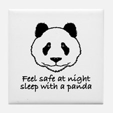 Feel safe at night sleep with a panda Tile Coaster