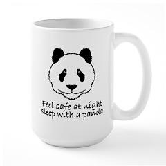 Feel safe at night sleep with a panda Mug