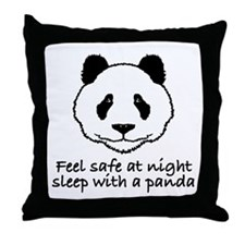 Feel safe at night sleep with a panda Throw Pillow