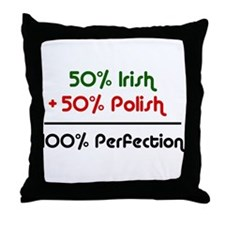 Irish & Polish Throw Pillow