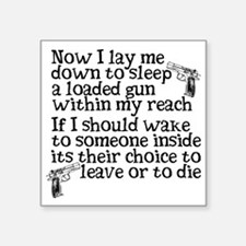 "Gun Owner Prayer Square Sticker 3"" x 3"""