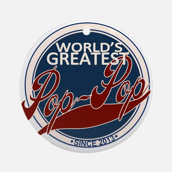 Worlds Greatest Pop-Pop Ornament (Round)