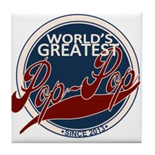 Worlds Greatest Pop-Pop Tile Coaster