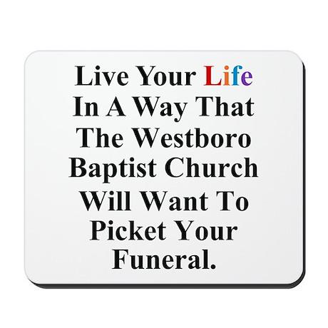 Westboro Baptist Church Mousepad by shirtsoup