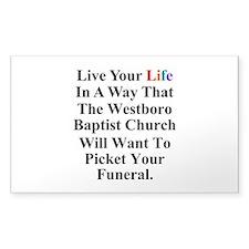 Westboro Baptist Church Decal