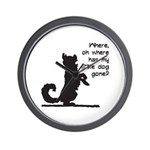 Where Has My Little Dog Gone? Wall Clock