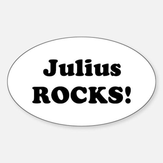 Julius Rocks! Oval Decal