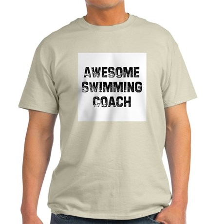 Awesome Swimming Coach Ash Grey T-Shirt