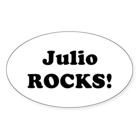Julio Rocks! Oval Sticker