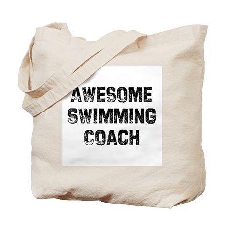 Awesome Swimming Coach Tote Bag