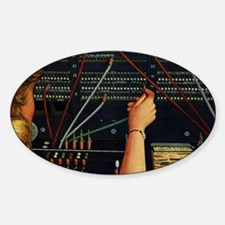 Vintage Switchboard Operator Decal