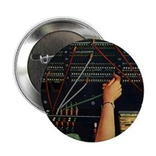 """Vintage Switchboard Operator 2.25"""" Button"""