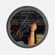 Vintage Switchboard Operator Wall Clock