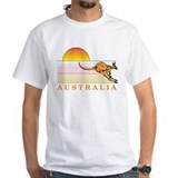 Australia Mens White T-shirts