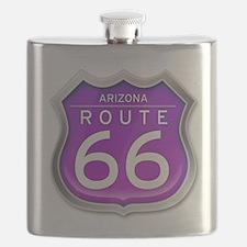 Arizona Route 66 - Purple Flask
