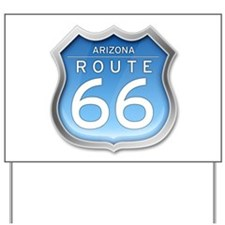Arizona Route 66 - Blue Yard Sign