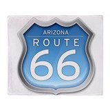 Arizona route 66 blue Blankets