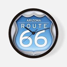 Arizona Route 66 - Blue Wall Clock
