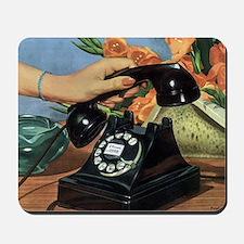 Vintage Rotary Telephone Mousepad
