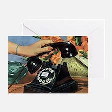 Vintage Rotary Telephone Greeting Card