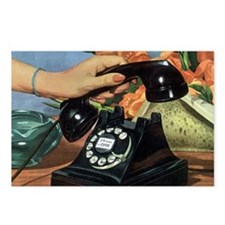 Vintage Rotary Telephone Postcards (Package of 8)
