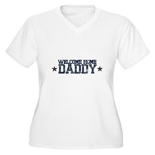 Welcome Home NAVY Daddy Plus Size T-Shirt
